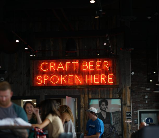 "Neon Sign saying ""Craft Beer Spoken Here"""